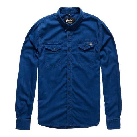 Superdry Light Blue Dragway Denim Shirt