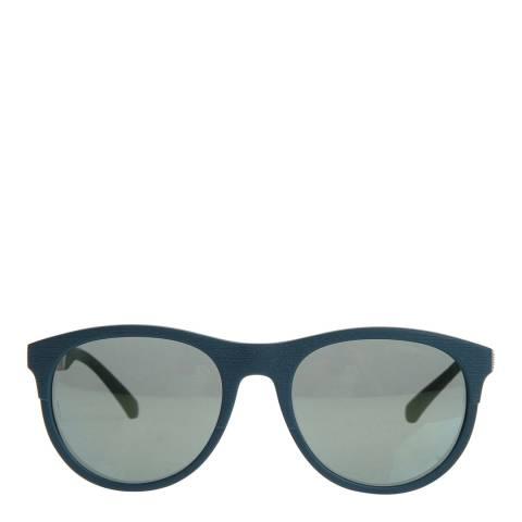 Emporio Armani Unisex Matte Petrol/Silver Sunglasses 56mm