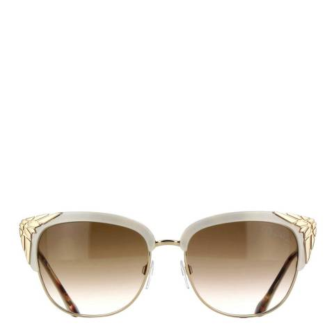 Roberto Cavalli Women's Ivory/Brown/Gold Sunglasses 56mm