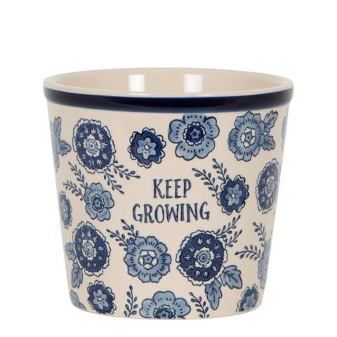 Sass & Belle Blue Floral Keep Growing Planter