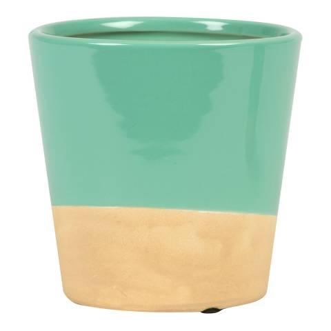 Sass & Belle Turquoise Dip Glaze Planter