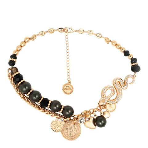 BiBi Bijoux Black/Gold Crystal Necklace