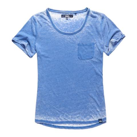 Superdry Dutch Blue Burnout Pocket T-Shirt