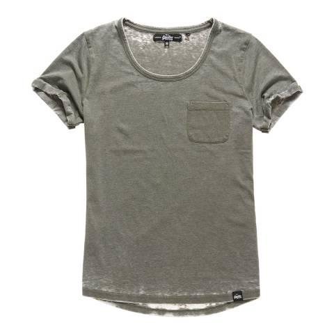 Superdry Festival Khaki Burnout Pocket T-Shirt