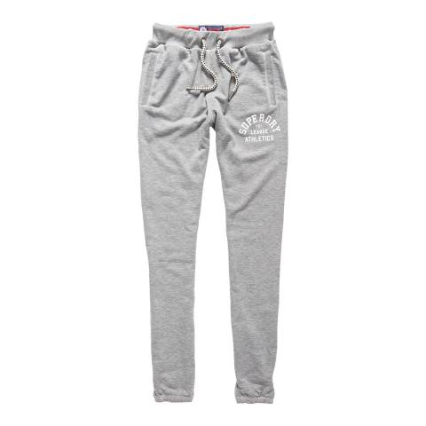 Superdry Skyscraper Grey Marl Tri League Relaxed Joggers
