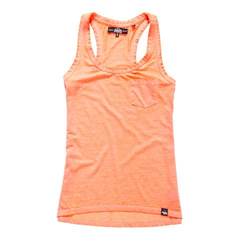 Superdry Fluro Coral Blossom Burnout Pocket Vest