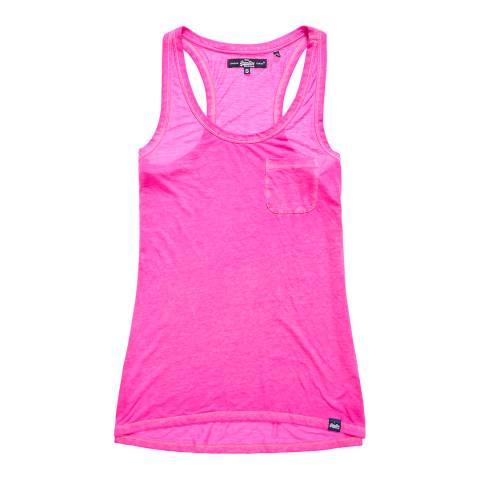 Superdry Raspeberry Sorbet Neon Burnout Pocket Vest