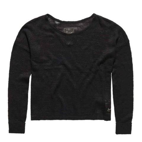 Superdry Black Nevada Springs Slub Knit