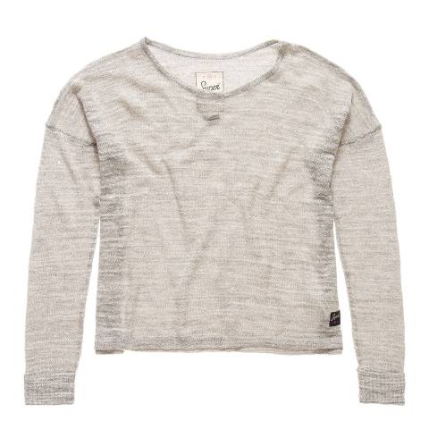 Superdry Grey Nevada Springs Slub Knit