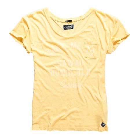 Superdry Island Yellow Graphic Pocket T-Shirt