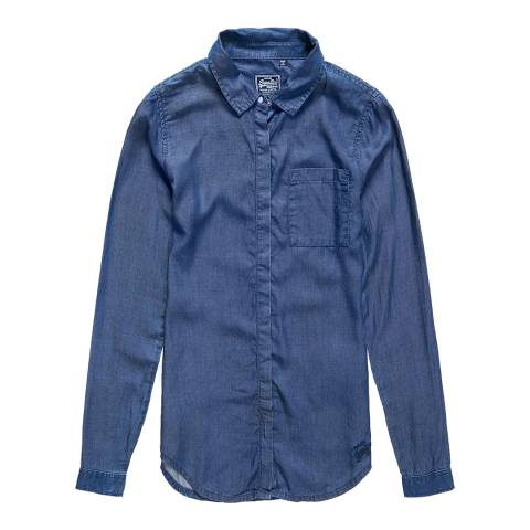 Superdry Dark Wash Diana Tencel Shirt