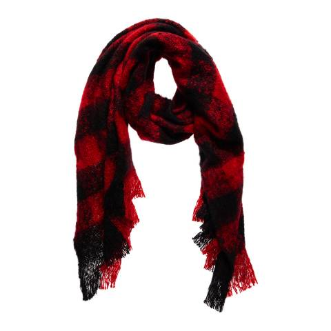 Superdry Red/Black SUPER ORKNEY SCARF