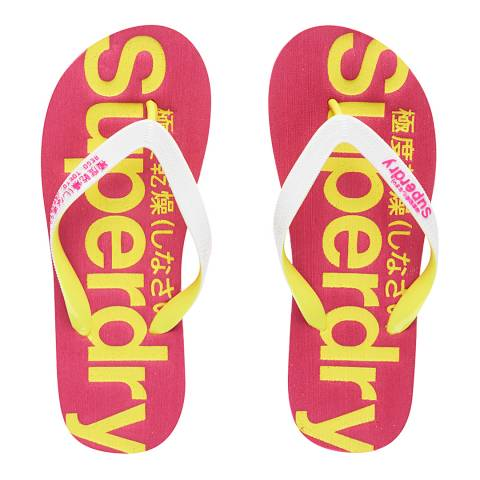 Superdry Optic/Fluro Lime/Punk Pink SUPERDRY FLIP FLOP