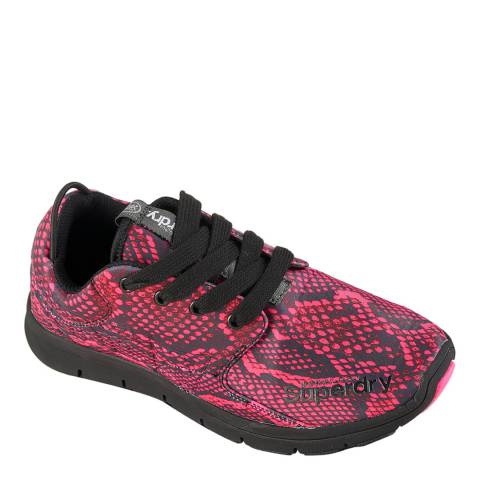 Superdry Neon Pink Python SUPERDRY SCUBA RUNNER