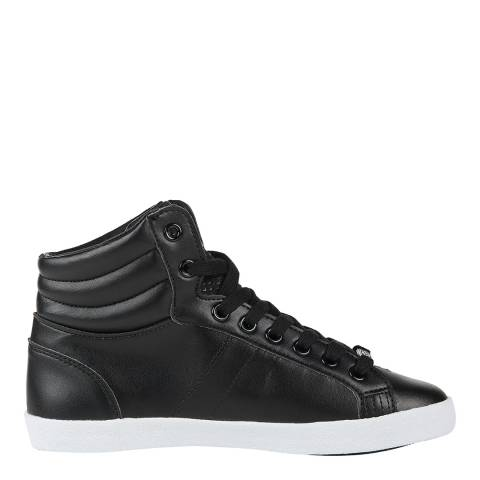 Superdry Women's Black Super Sleek Logo Hi Sneakers