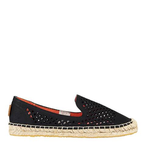 Superdry Black CECELIA SLIP ON ESPADRILLE