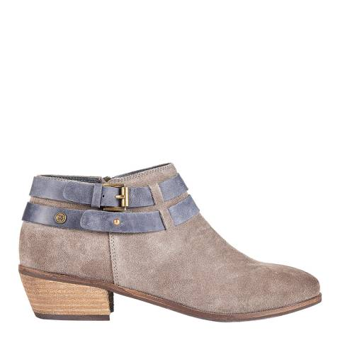 Superdry Light Grey LILY LOW ANKLE BOOT