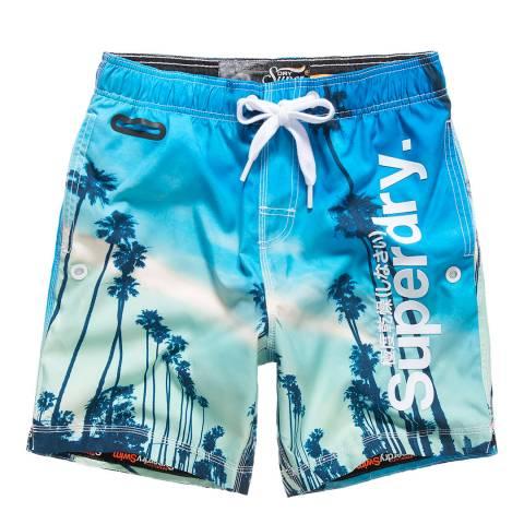 Superdry Blue Neo Photo Swim Shorts