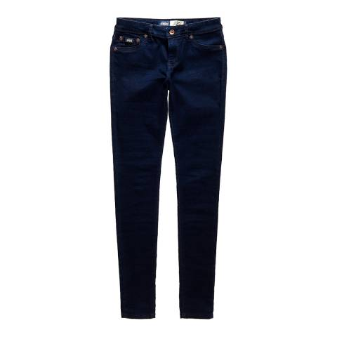 Superdry Rinse Blue Black Alexia Jeggings
