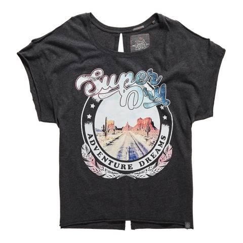 Superdry Charcoal Desert Nevada Shoulder T-Shirt