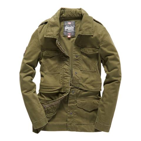 Superdry Khaki Rookie Split Jacket