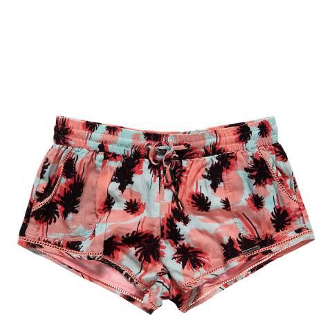 Superdry Acid Pop Palm Pastel Palm Mini Shorts