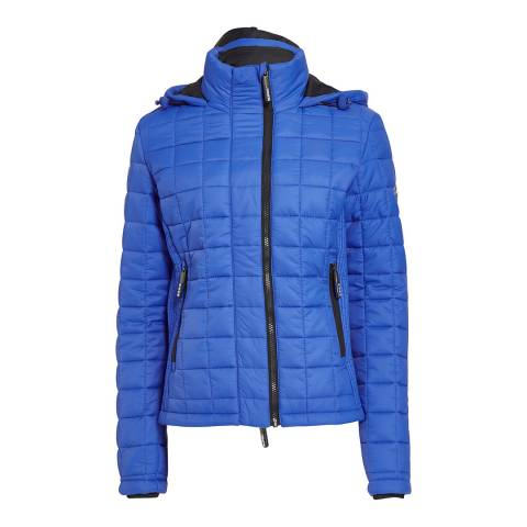 Superdry Cobalt Hoodieed Box Quilt Fuji Jacket