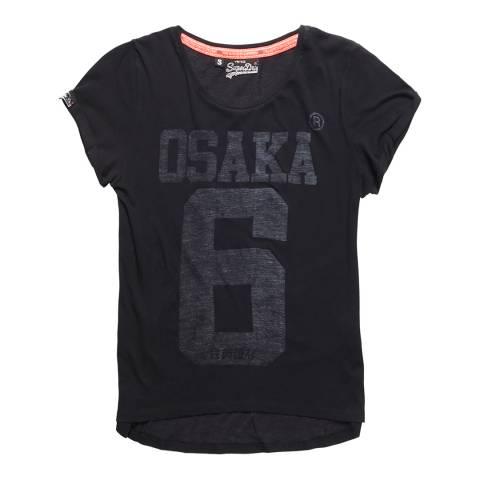 Superdry Black Osaka Burn Out T-Shirt
