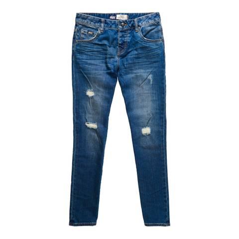 Superdry Vintage Lagoon Wash Riley Girlfriend Jeans