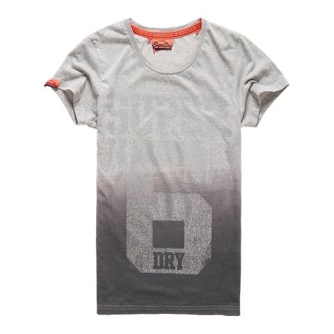 Superdry Grey Grit Super No6 Foil Entry T-Shirt