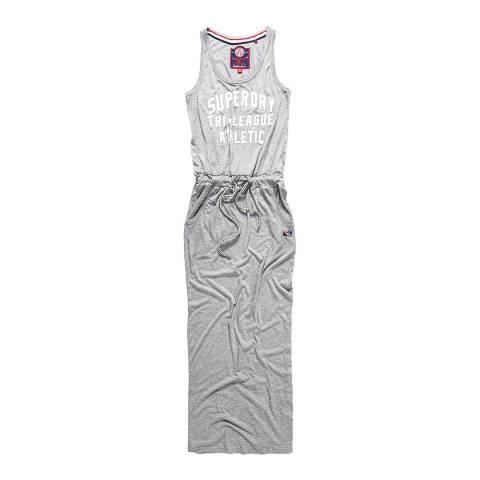 Superdry Skyscraper Grey Marl Tri League Maxi Dress