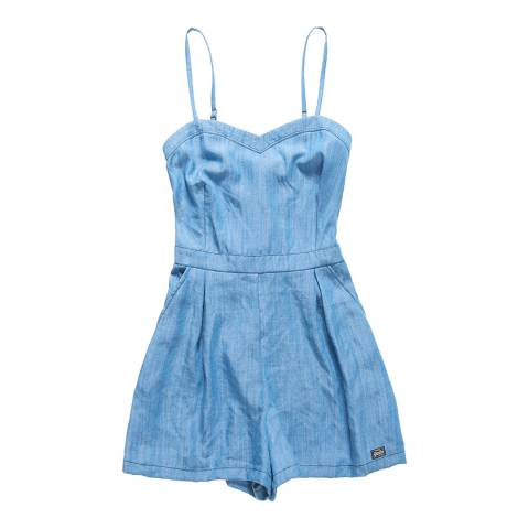 Superdry Mid Wash Tabitha Soft Playsuit