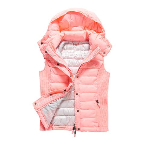 Superdry Papaya Coral Fuji Slim Double Zip Vest