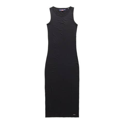 Superdry Black Super Slinky Maxi Dress