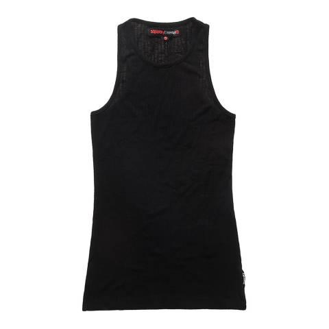 Superdry Black Twist Rib Vest