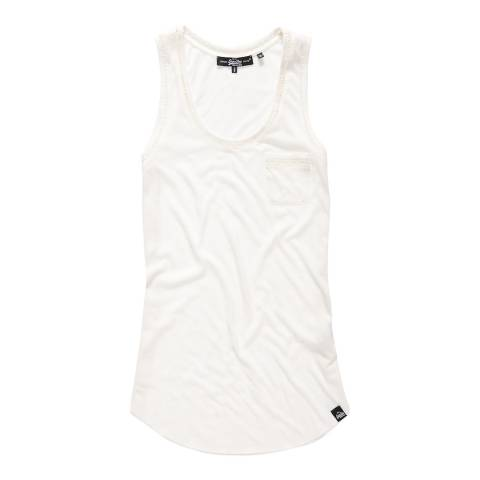 Superdry Off White Ladder Lace Trim Tank