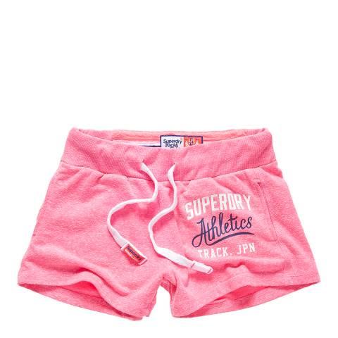 Superdry Pink Sorbet Snowy Track & Field Lite Shorts