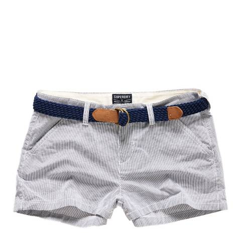 Superdry Navy/Ecru Riviera Hot Shorts