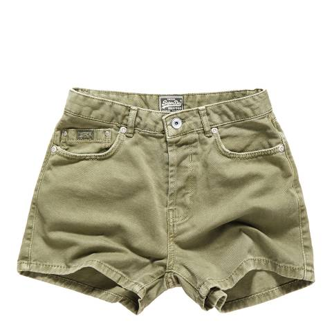 Superdry Khaki Freya Shorts