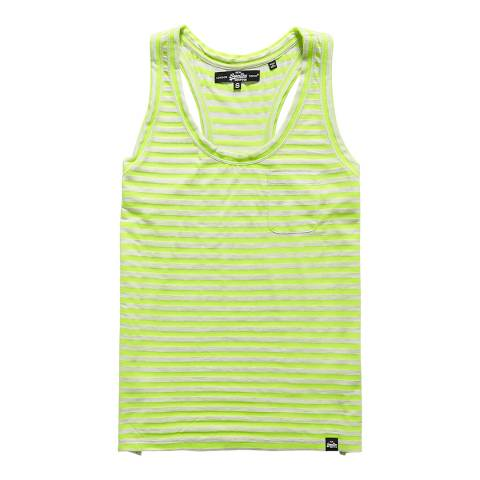 Superdry Ice Marl/Fluro Yellow Marl Stripe Vest