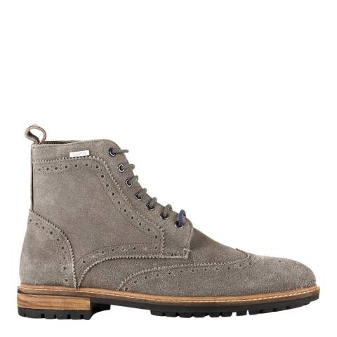 Superdry Grey BRAD BROGUE STAMFORD BOOT
