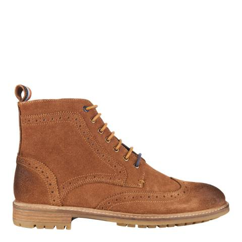 Superdry Tan Suede BRAD BROGUE STAMFORD BOOT