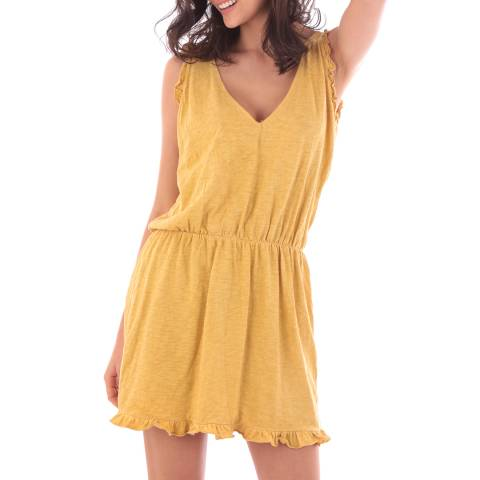 Fille de Coton Yellow Cotton Sleeveless Dress