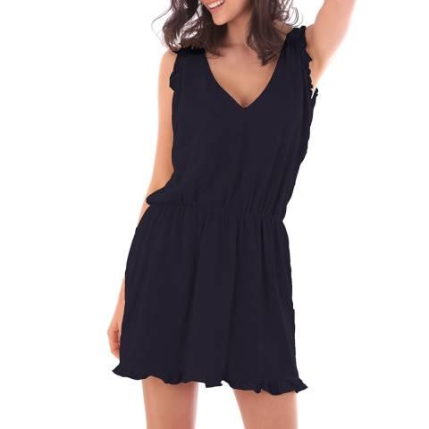 Fille de Coton Navy Cotton Sleeveless Dress