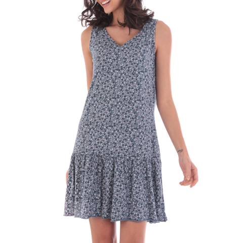 Fille de Coton Blue Cotton Pattern Sleeveless Dress