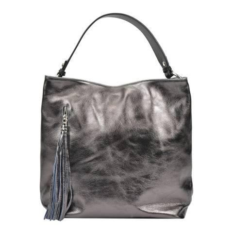 Mangotti Bags Black Leather Hobo Bag