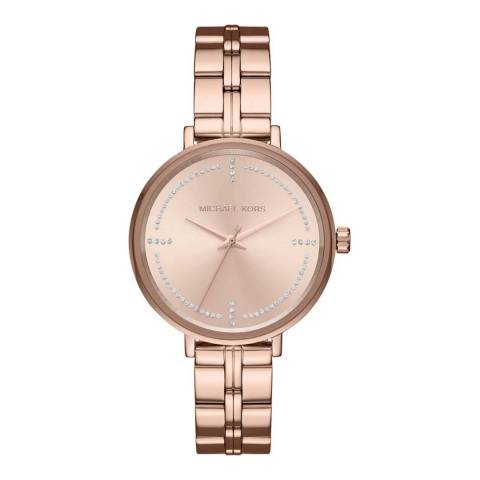 Michael Kors Women's Rose Gold Bridgette Watch