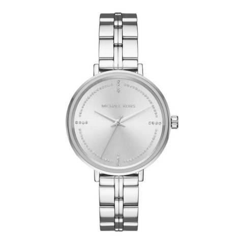 Michael Kors Women's Silver Bridgette Watch