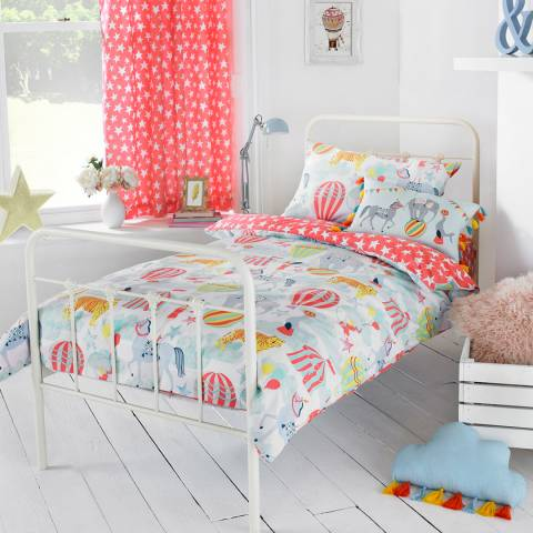Paoletti Vintage Circus Toddler Duvet Cover Set