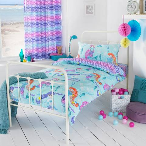 Paoletti Mermaid Double Duvet Cover Set